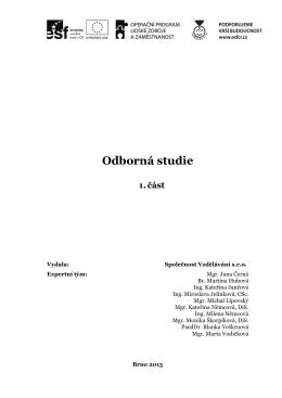 Odborná studie 1. část