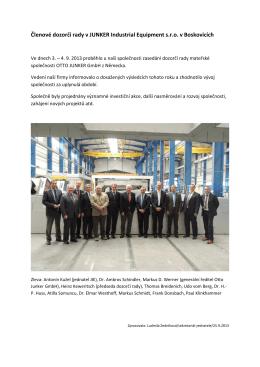 Členové dozorčí rady v JUNKER Industrial Equipment sro v