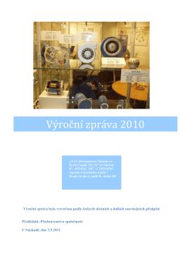 Výroční zpráva za rok 2010 - ATAS elektromotory Náchod as