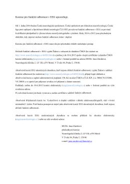 Oznámení komise pro funkční odbornost v EEG