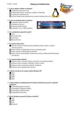 Otázky pro finálové kolo