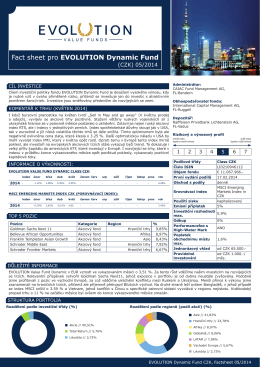 05 2014 EVOLUTION Dynamic Fund - CZK