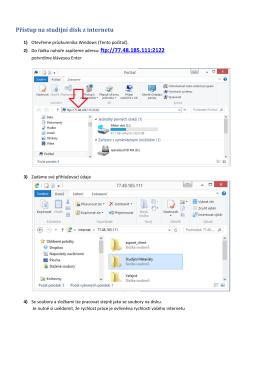 Přístup na studijní disk z internetu