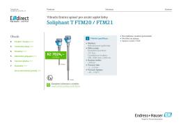 Soliphant T FTM20 / FTM21 - E