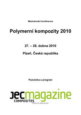 Polymerní kompozity 2010 - Nové technologie