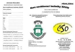 Kurz osvětlovací techniky XXVIII - přihláška (pdf)