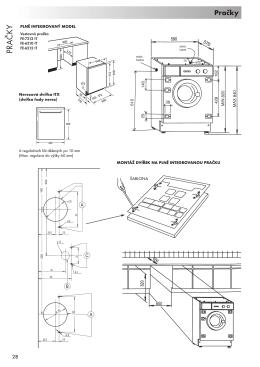Instalace vestavných praček a myček