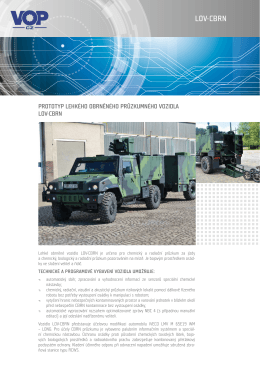 Lehké obrněné průzkumné vozidlo LOV-CBRN
