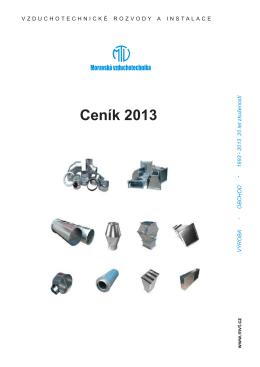 Ceník vzduchotechnického potrubí 2013