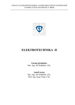 Skripta - přednášky - Vysoké učení technické v Brně