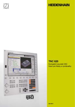 TNC 620 - Kompaktní souvislé CNC řízení pro frézky a