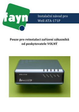 Instalační návod pro Well ATA-171P