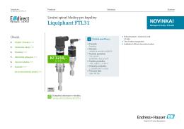 TD Liquiphant FTL31 (PDF 2,98 MB) - E-direct