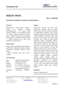 ASOLIN-OH30 - CAPRO spol. s ro