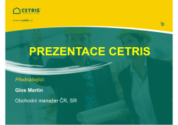 PREZENTACE CETRIS