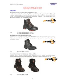 Zimní obuv, rukavice - kolekce 2014-2015 KROK