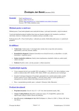 Životopis (PDF) - Jan
