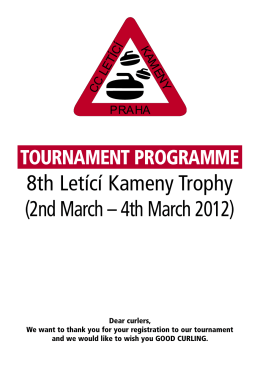 8th Letící Kameny Trophy (2nd March – 4th March 2012)