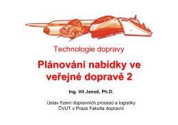 Jízdní řády - Technologie dopravy