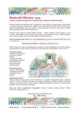Rozkvetlé Mirotice 2013