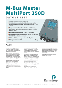 M-Bus Master MultiPort 250D DATOVÝ LIST