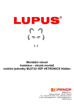 skrytá montáž mobilní jednotky MJ2732 VEP VETRONICS Hidden