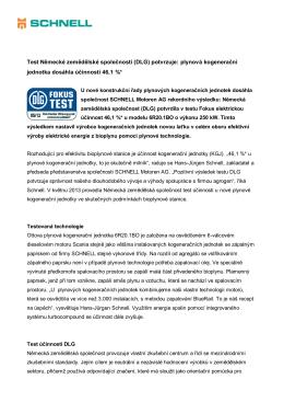 Tisková zpráva - Schnell Motoren AG