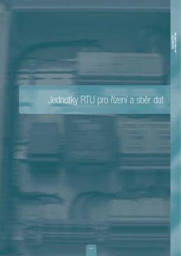 Jednotky RTU pro řízení a sběr dat