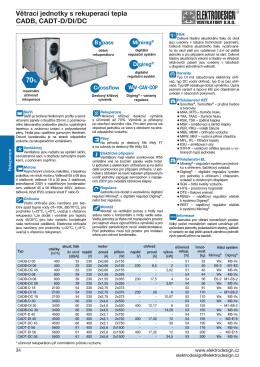 Větrací jednotky s rekuperací tepla CADB, CADT