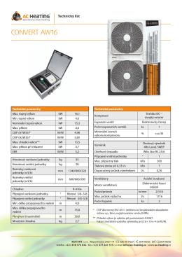 CONVERT AW16 - Tepelná čerpadla, tepelné čerpadlo AC Heating