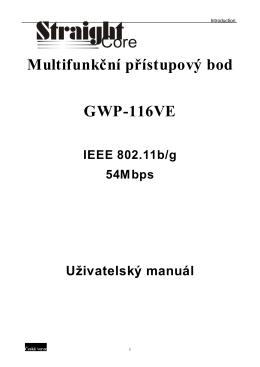 GWP-116VE Manual