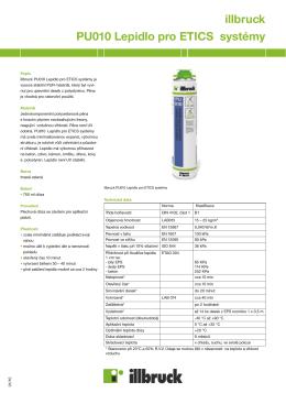 illbruck PU010 Lepidlo pro ETICS systémy
