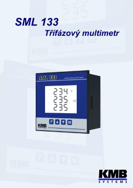 SML 133 Multifunkˇcní mˇericí prístroj do panelu