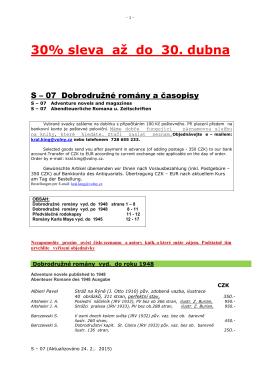 07 Dobrodružné romány a časopisy