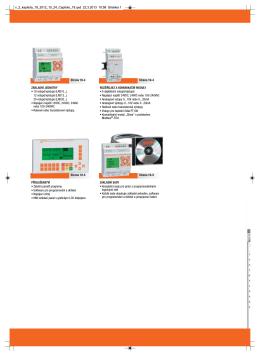 ZÁKLADNÍ JEDNOTKY • 10 vstupů/výstupů (LRD10...) 12 vstupů