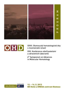 P R O G R A M - OHD - Olomoucké Hematologické dny