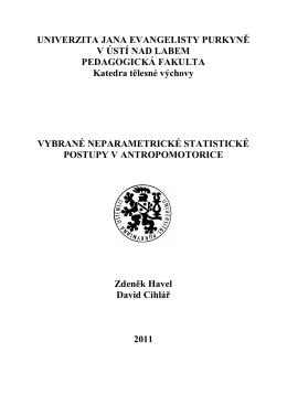 Vybrané neparametrické statistické postupy v antropomotorice