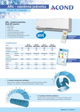 kazetové jednotky - Klimatizace ACOND