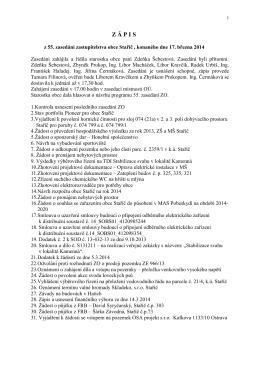Zápis z 55. zasedání ZO ze dne 17.3.2014