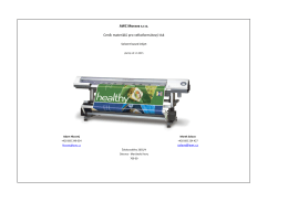 Materiál pro velkoformátový tisk - solventní báze