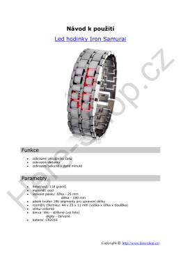 Návod k použití Led hodinky Iron Samurai - Here