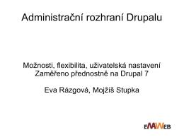 Administrační rozhraní Drupalu