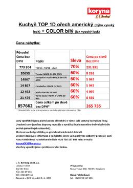 OSTRAVA 2013 - TOP 1D ořech americký + COLOR bílý lak