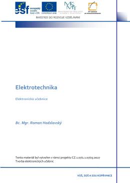 Elektrotechnika - Elearning VOŠ, SOŠ a SOU Kopřivnice