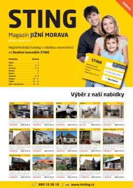 Magazín JIŽNÍ MORAVA - Realitní kancelář STING