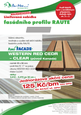 Raute western red cedr MC - AU-MEX