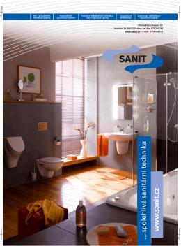 www .sanit.cz spolehlivá sanitární technika