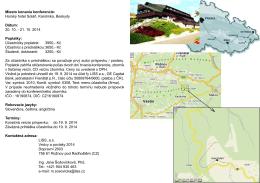 Miesto konania konferencie: Horský hotel Soláň, Karolinka, Beskydy