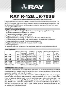 Manuál regulátorů RAY