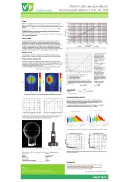 Monte Carlo simulace odezvy neutronových detektorů (3He